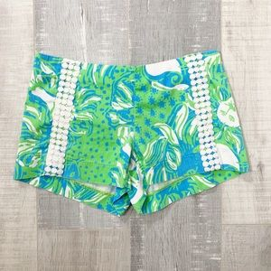 Lilly Pulitzer Patterned Embroidered Shorts